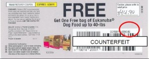 Counterfeit Coupons
