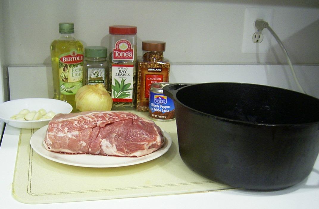 Ingredients for Spicy Pork Roast